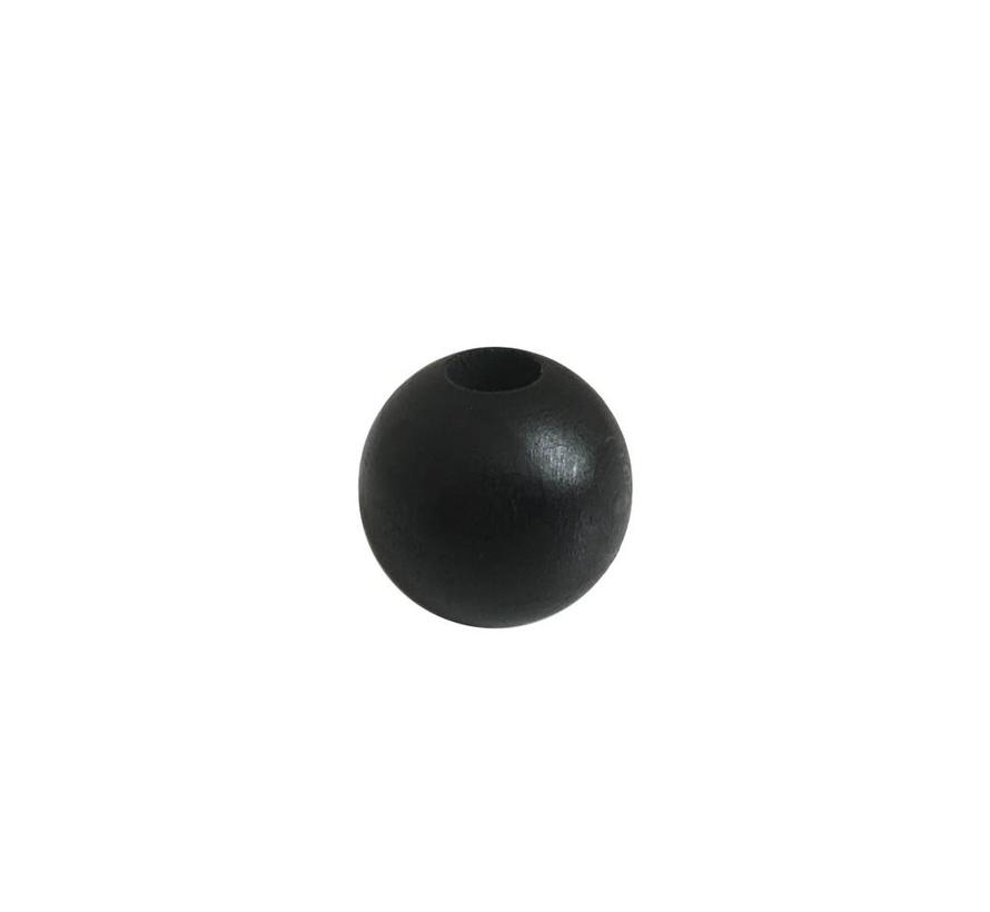 Pearl wood black sphere small