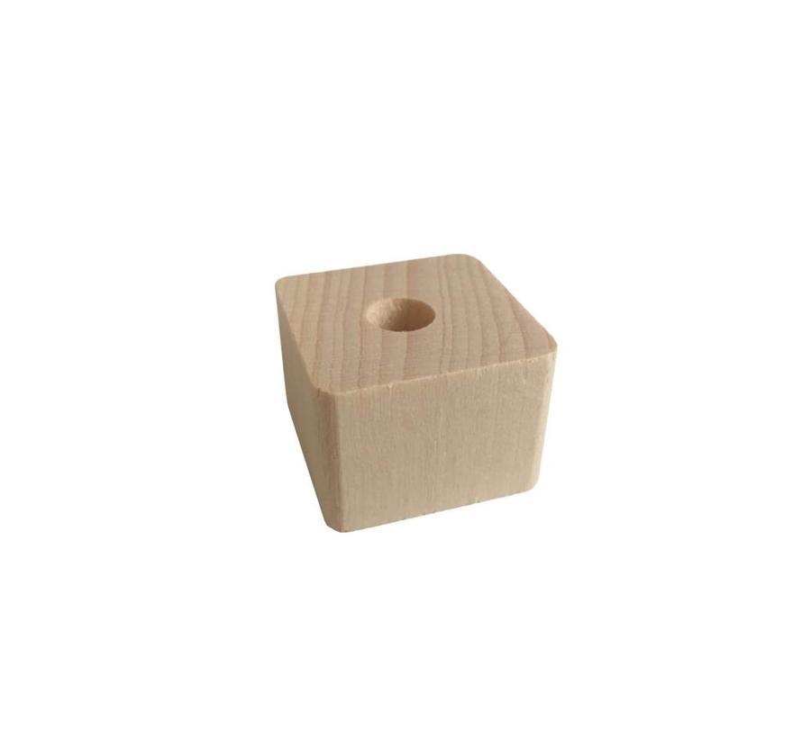 Holzperlen Natur | Rechteck, klein
