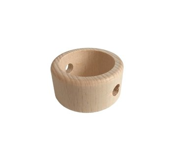 Kynda Light Holzperlen Natur | Ring, Ø47mm