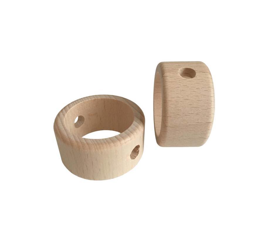 Kraal hout naturel ring