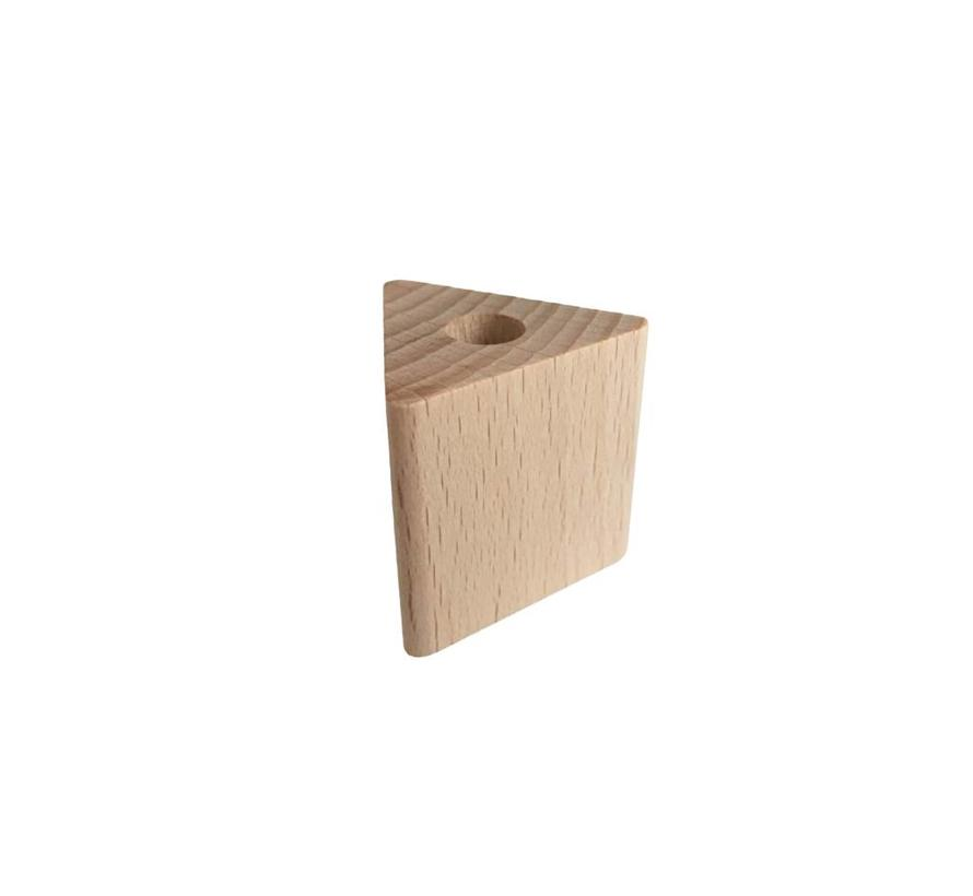 Kraal hout naturel driehoek groot