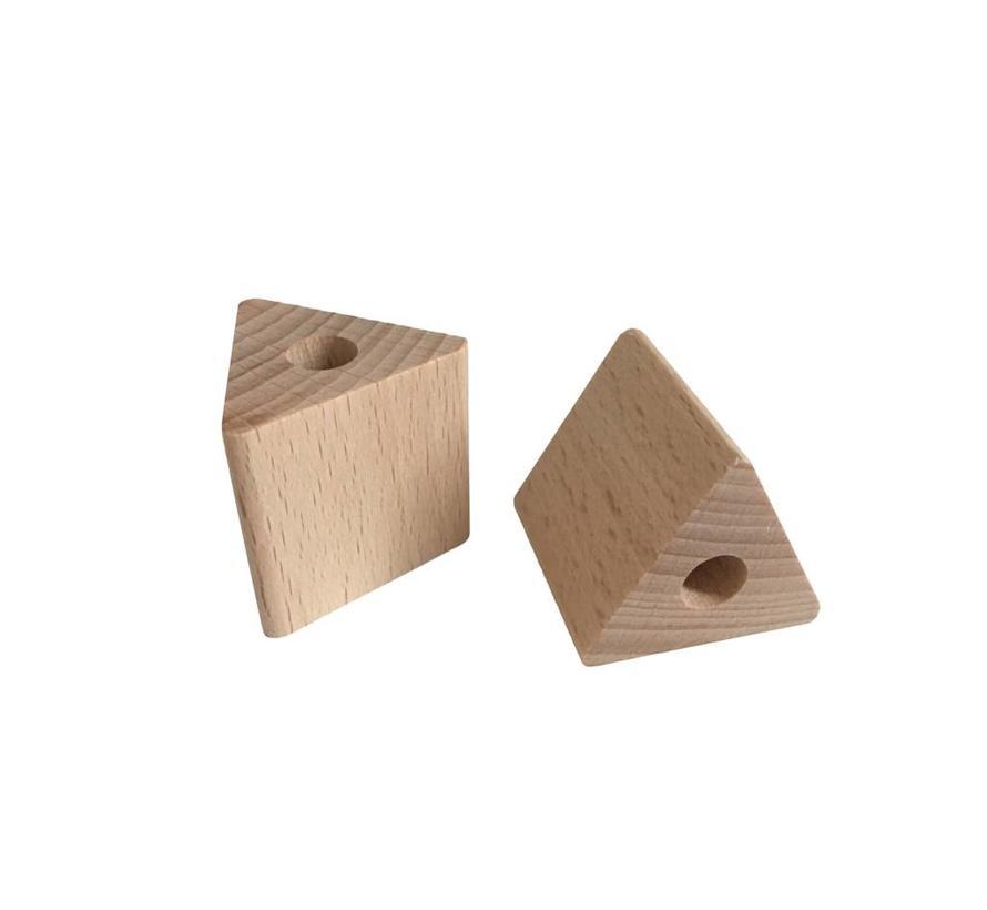 Holzperlen Natur | Dreieck, groß