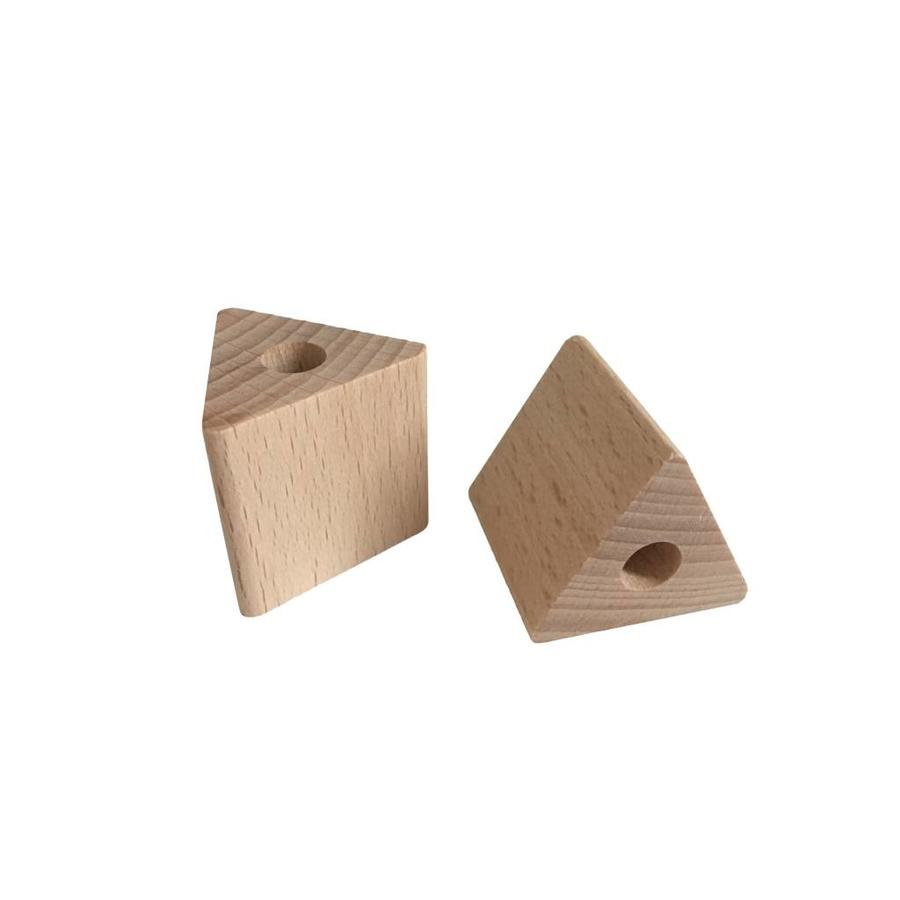 Kraal hout naturel driehoek groot-2