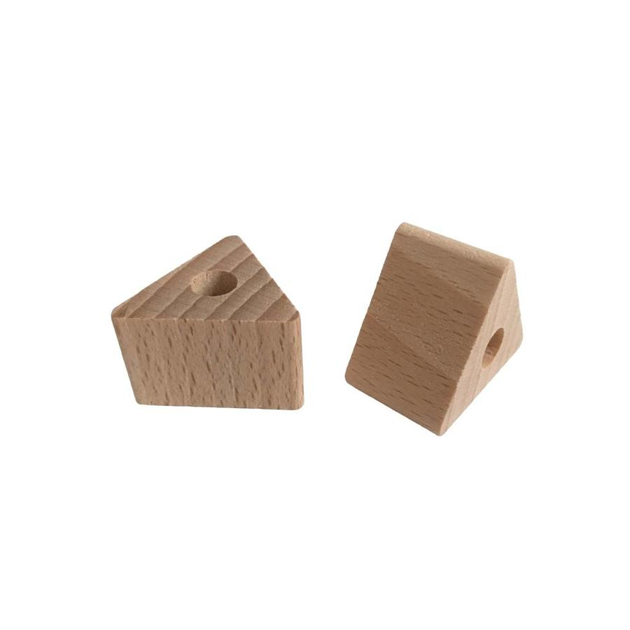 Pearl wood natural triangle small
