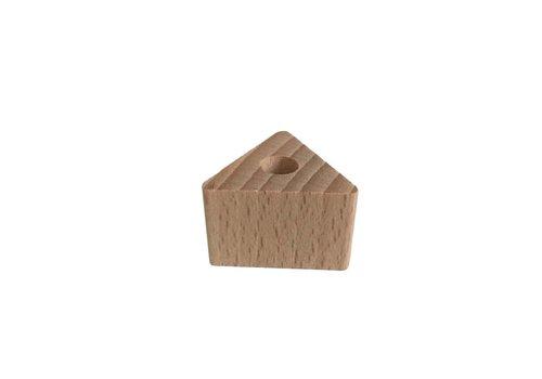 Kraal hout naturel driehoek klein