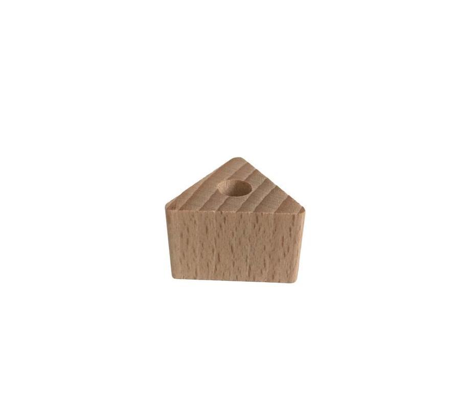 Holzperlen Natur | Dreieck, klein