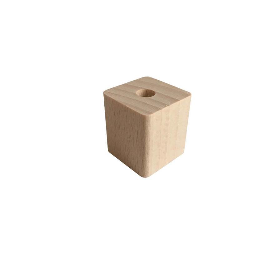 Holzperlen Natur | Rechteck, groß