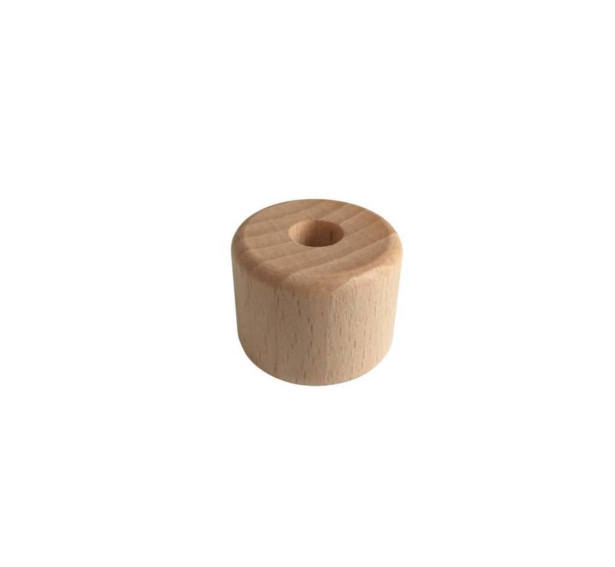 Pearl / Bead wood natural | Cylinder, small