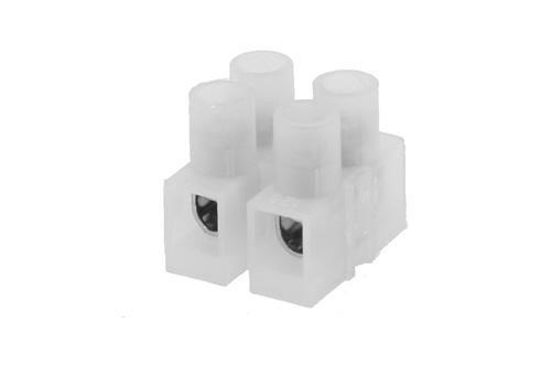 Kroonsteen transparant (2-polig)