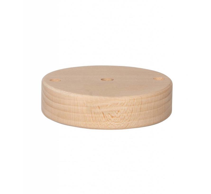 Plafondkap 'Woody' rond hout - 1 snoer