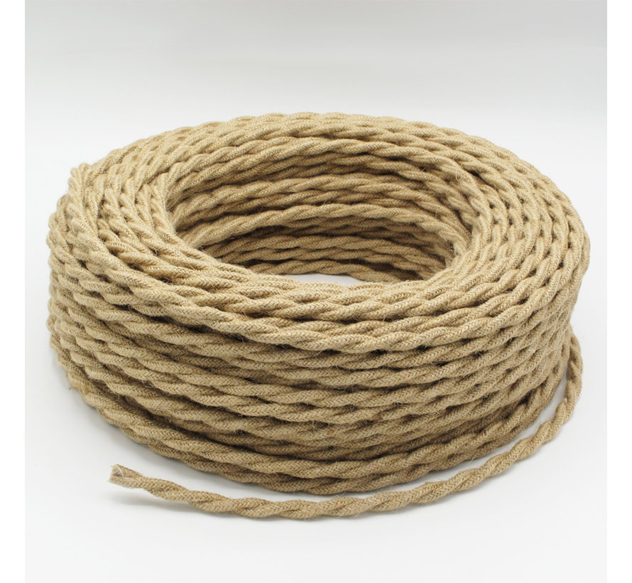 Fabric Cord Jute - round, twisted, raw yarn