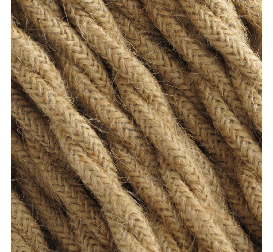 Textilkabel Jute / Sackleinen - verdrillt/geflochten