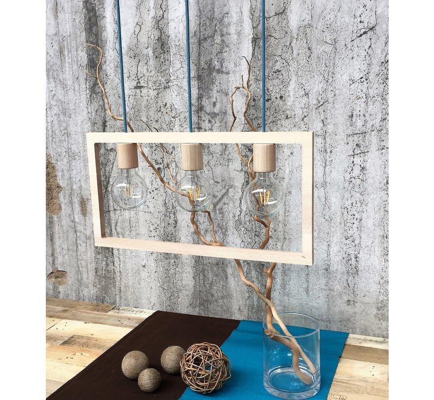 Strijkijzersnoer Aquamarine Blauw - rond, linnen