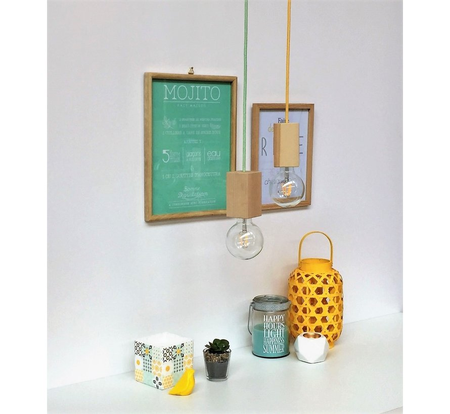 Fabric Cord Light Green - round, linen