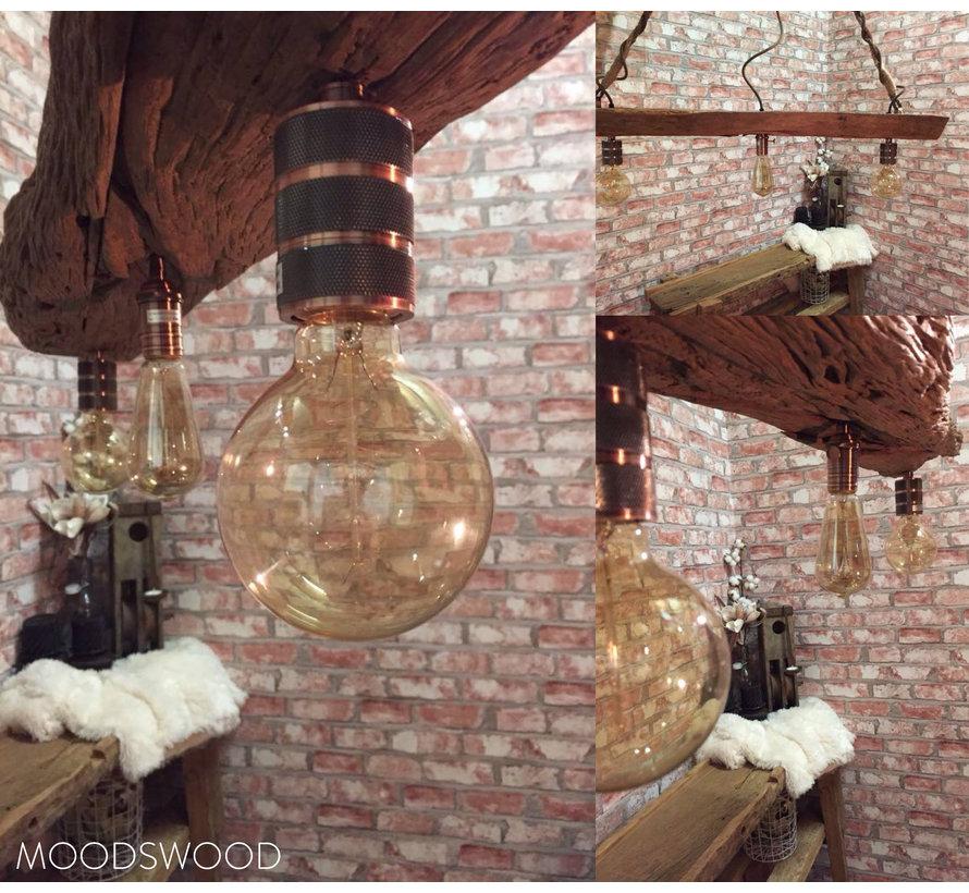 Metal Lamp Holder 'Hallvor' copper E27