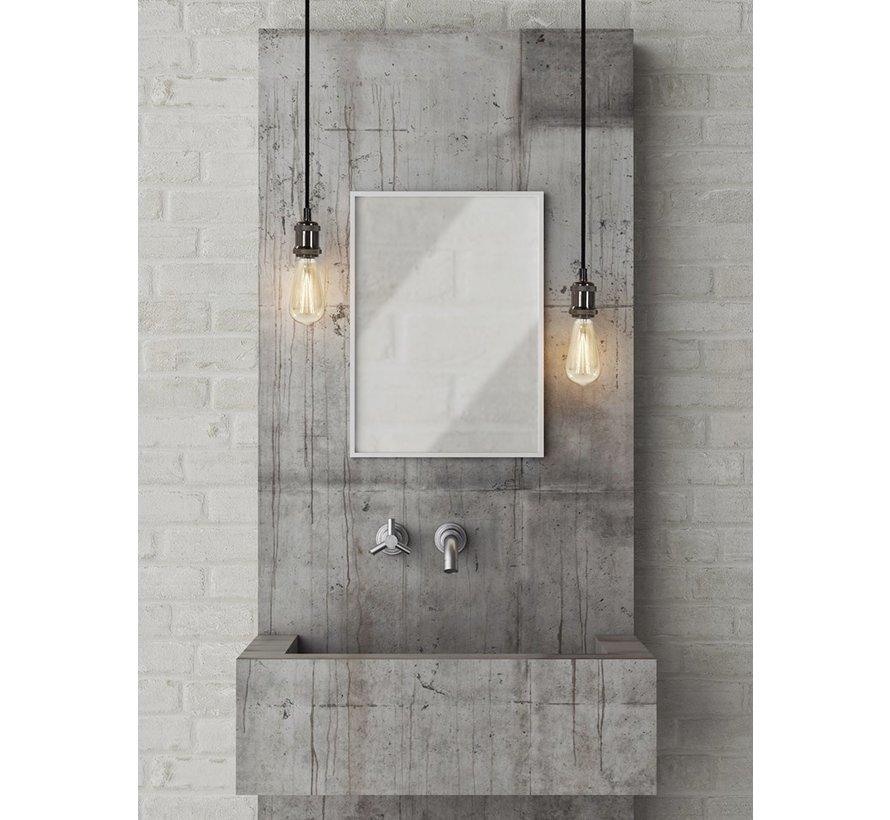 Metal Lamp Holder 'Bernt' dark grey E27