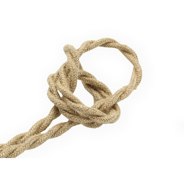 Kynda Light Fabric Cord Jute - twisted, raw yarn