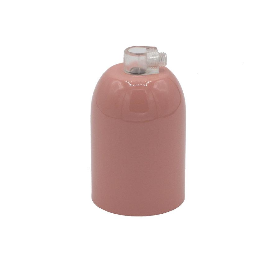 Metal Lamp Holder 'Lova' Pink E27