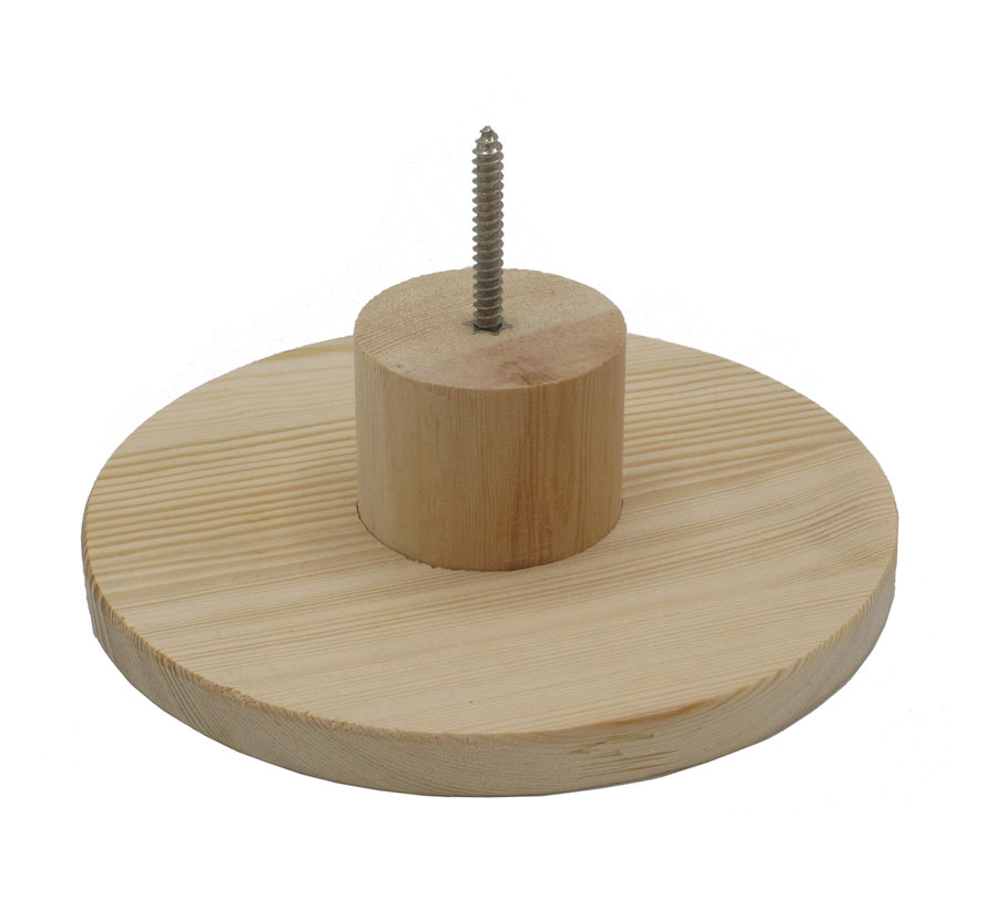 Woody Wooden Wall Hook Round - L