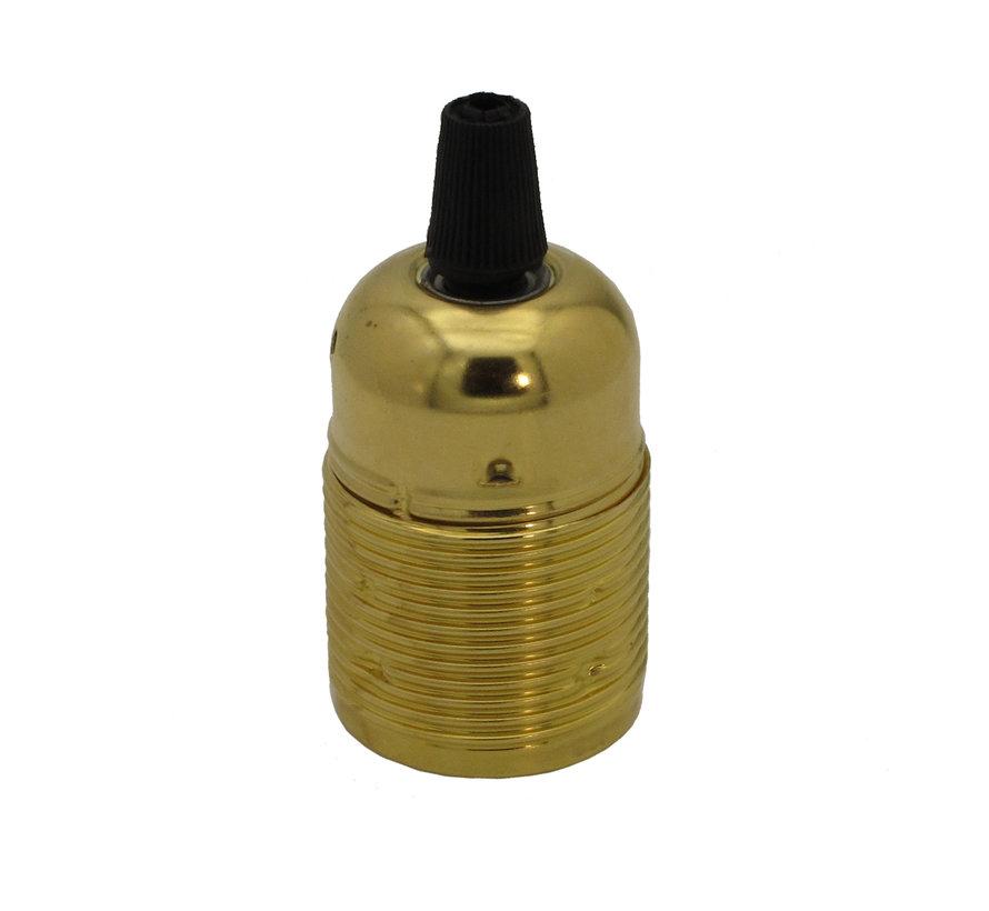 Fitting 'Viggo' metaal Goud E27 (geaard)