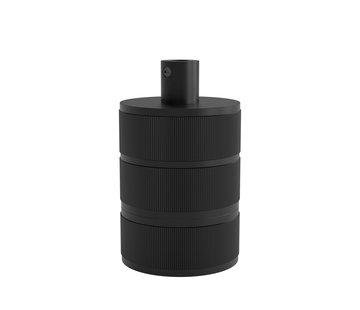Calex Calex fitting metaal  - 3-rings Mat Zwart