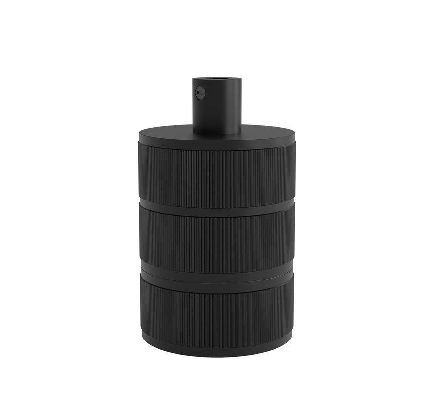 Calex fitting metaal  - 3-rings Mat Zwart