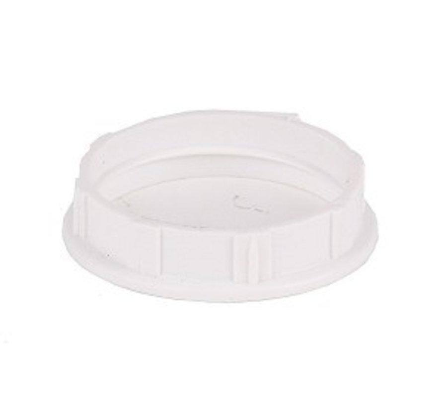 Kunststoff Schraubring / Stellring zur Montage Fassung E14 mit Außengewinde | Weiß Ø34mm
