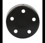 Plafondkap 'Vidar' metaal Zwart (mat) - 5 snoeren
