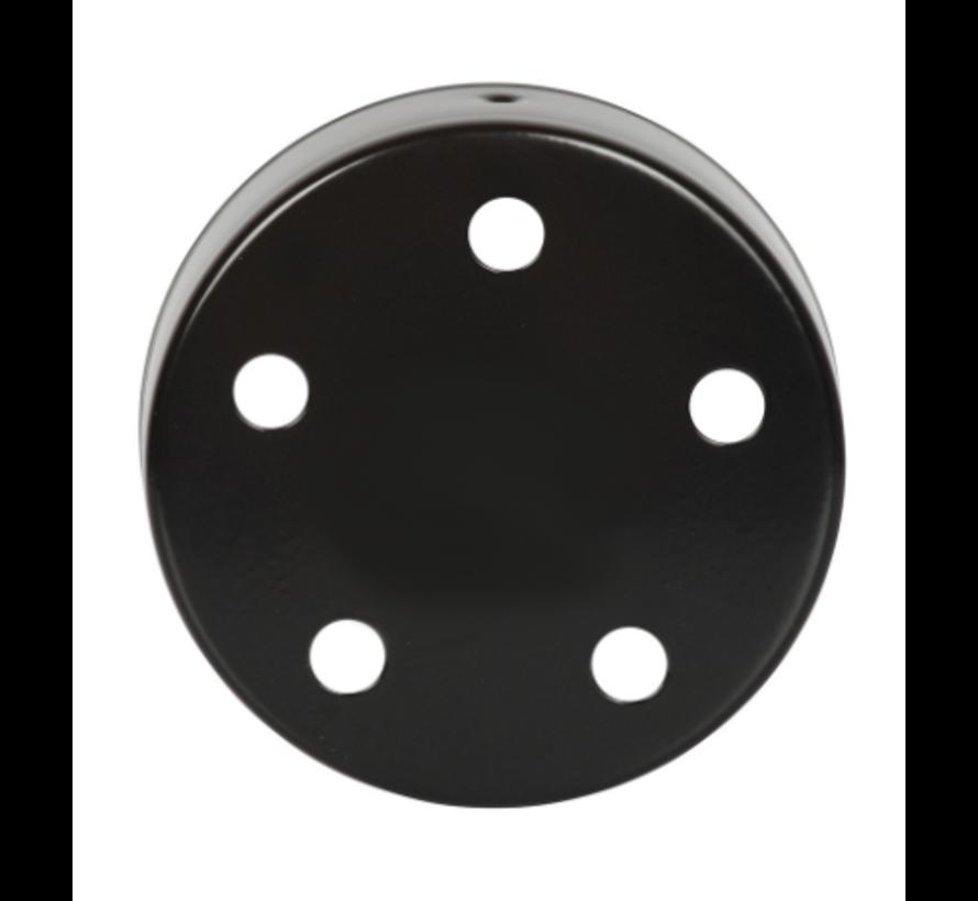Plafondkap 'Vidar' metaal Zwart (5 snoeren)