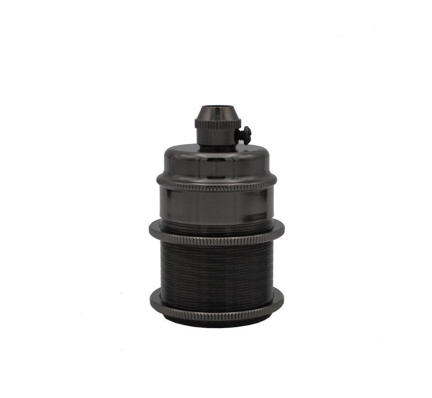 Metal Lamp Holder 'Kovit' dark grey E27