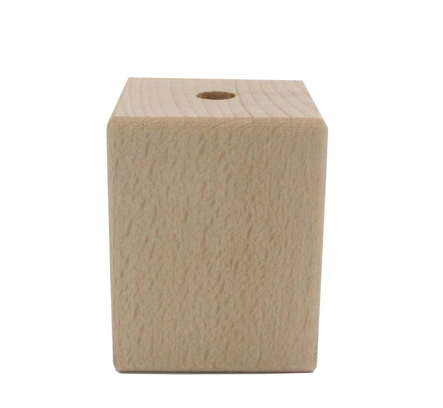 Fassung 'Woody' Holz Rechteck - E27