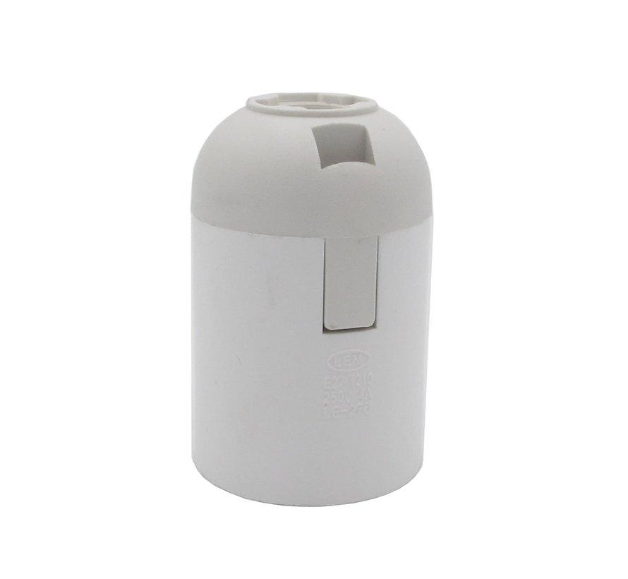 Binnenfitting thermoplastic met klemaansluiting Wit - E27