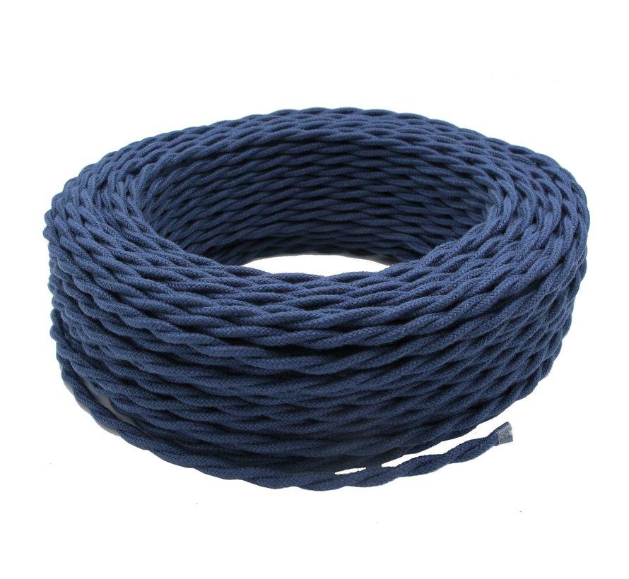 Strijkijzersnoer Donkerblauw Jeans - gedraaid, linnen