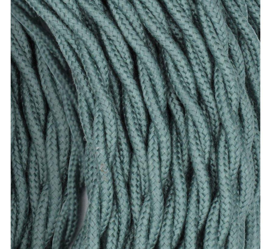 Textilkabel Salbei - verdrillt/geflochten, Leinenstoff