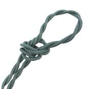 Kynda Light Fabric Cord Sage - twisted, linen