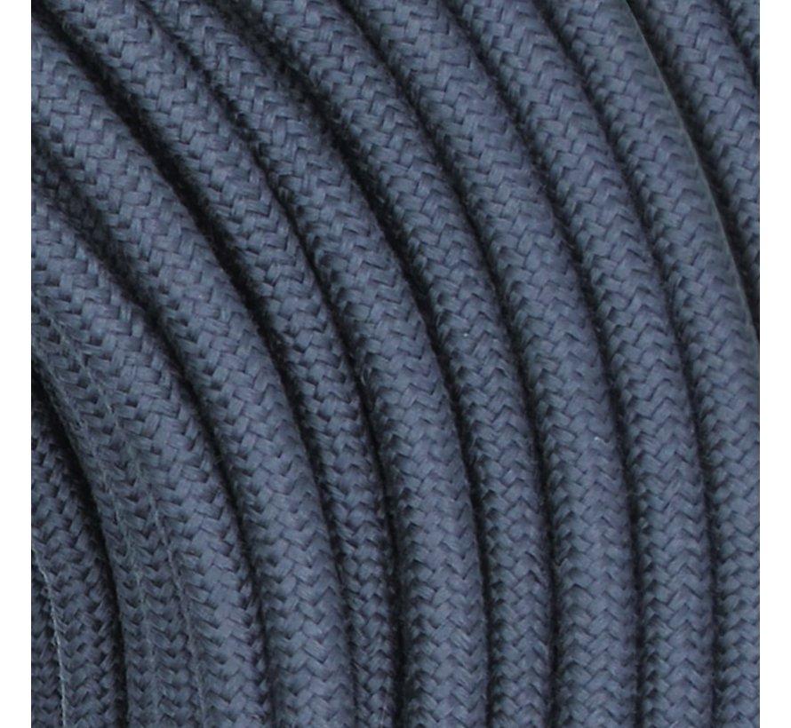 Textilkabel Dunkelgrau Graphit - rund, leinen