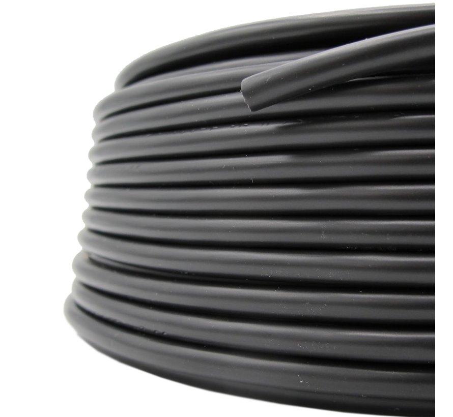 Strijkijzersnoer Kunststof PVC Zwart - rond
