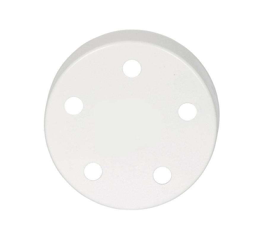 Plafondkap 'Vidar' metaal Wit (glans) - 5 snoeren