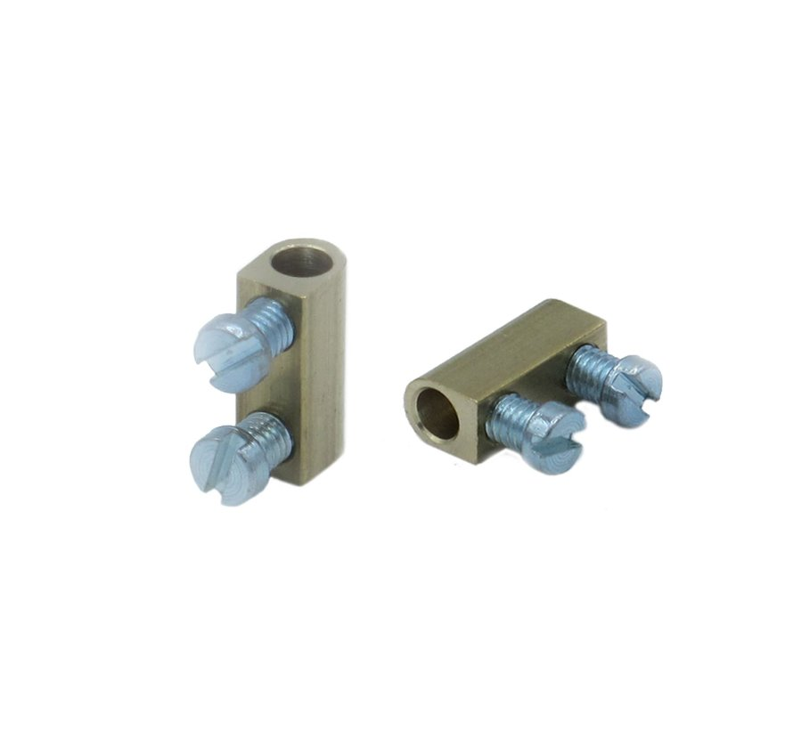 Terminal block - Brass (1-pole)