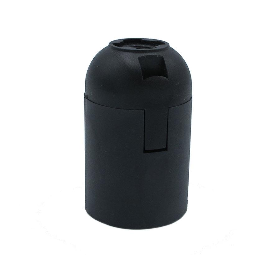 Binnen klik fitting thermoplastic zwart met klemaansluiting -E27