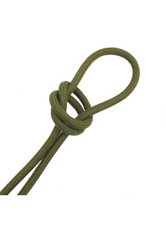 Kynda Light Fabric Cord Olive Green - round, linen