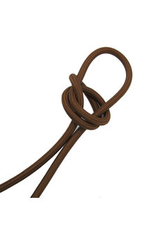 Kynda Light Fabric Cord Cacao Brown - round, solid