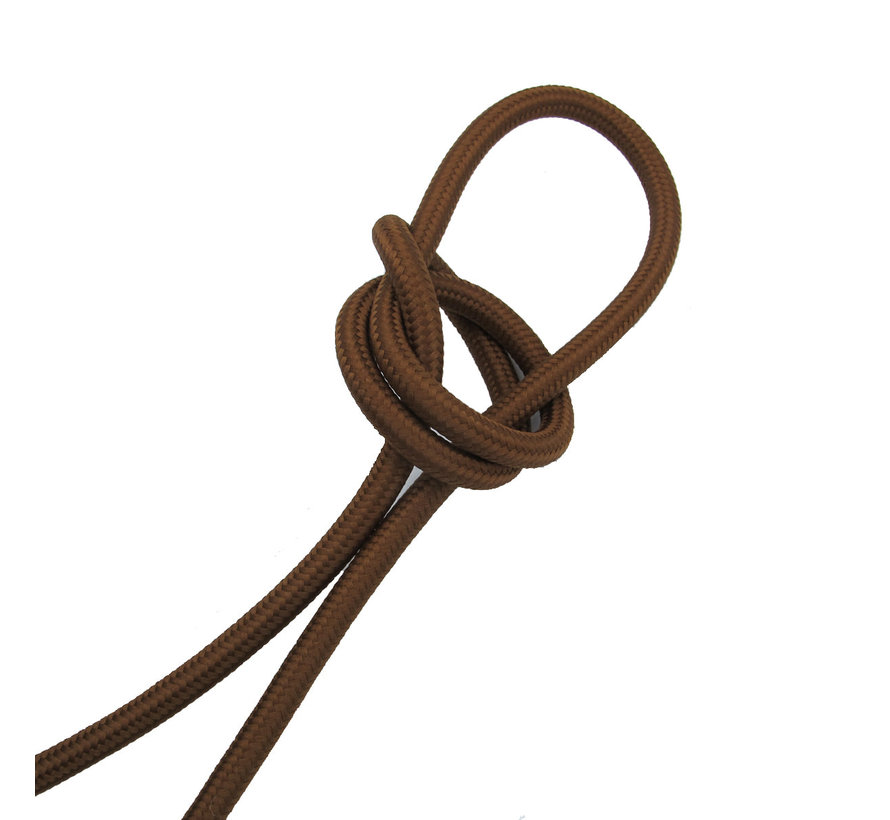 Fabric Cord Cacao Brown - round, solid