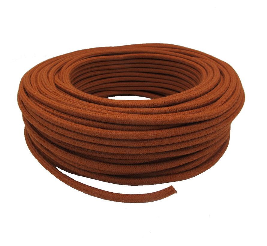 Fabric Cord Terracotta - round, linen