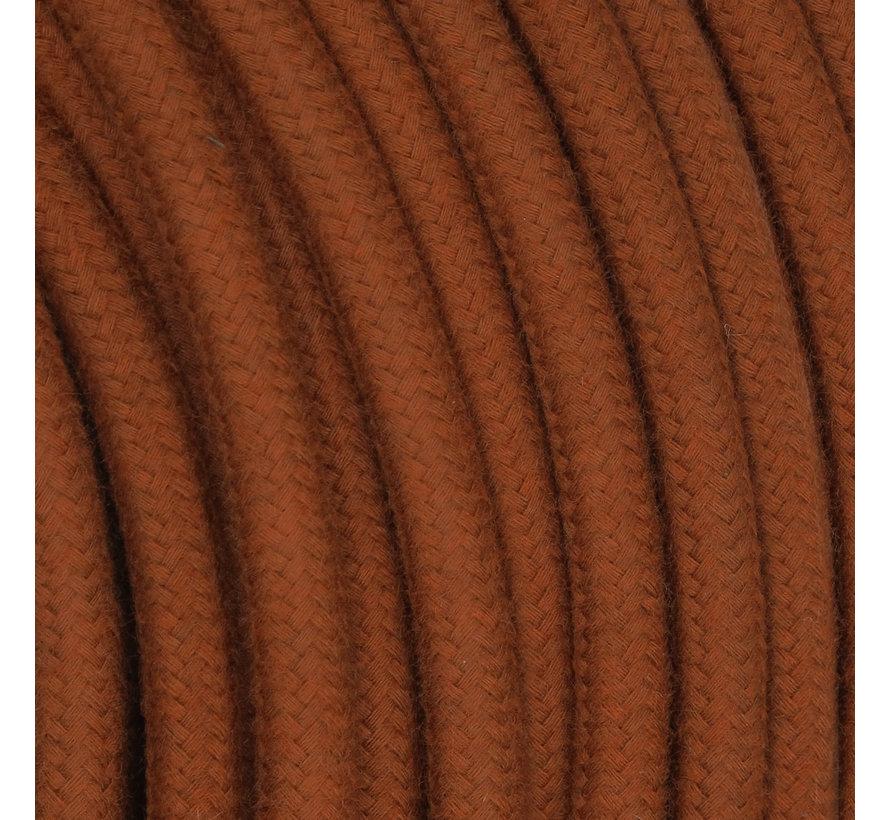 Textilkabel Terrakotta - rund, leinen
