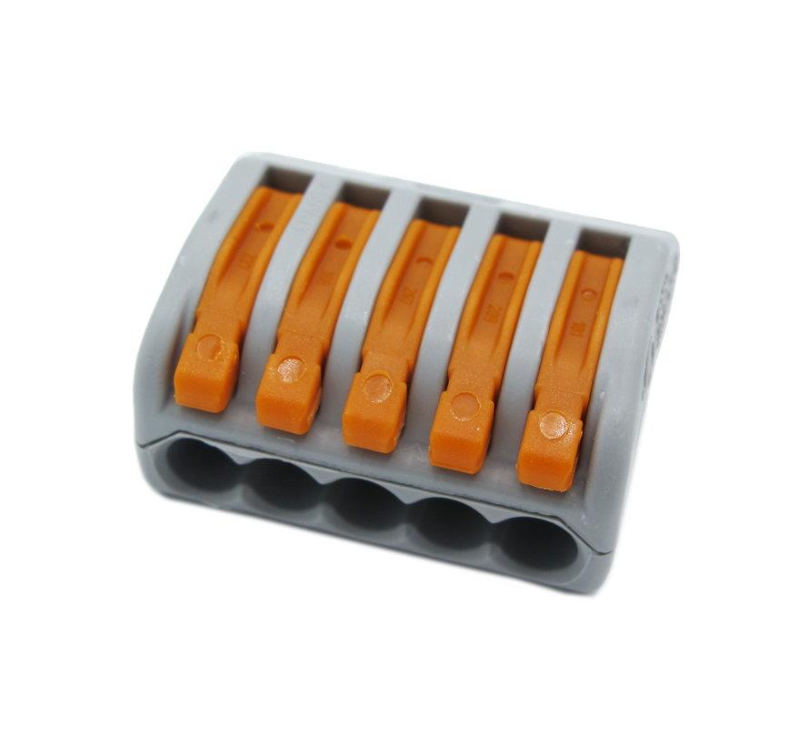 Wago 5-polige aansluitklem