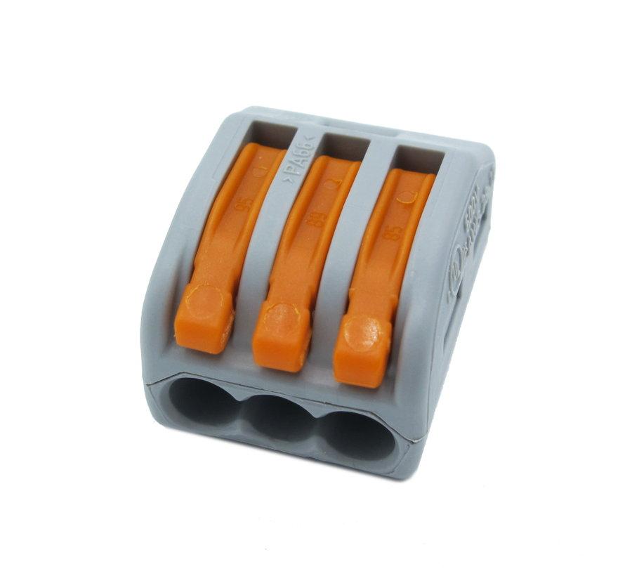 Wago Kabelklemme / Hebelklemme / Anschlussklemme | 3-polig