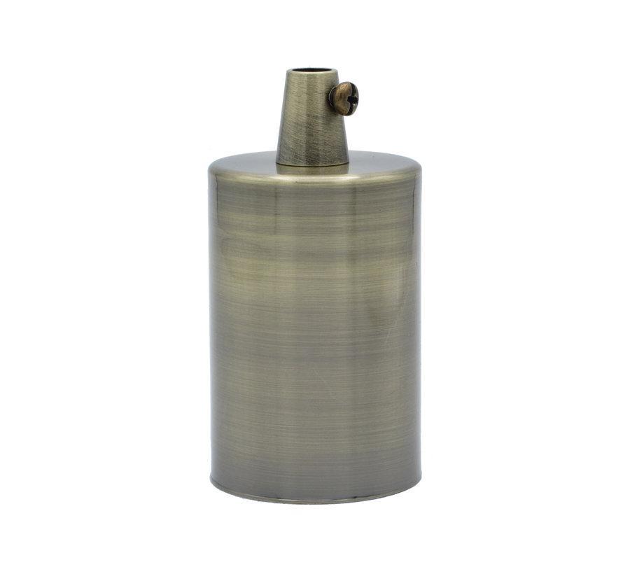 Fitting 'Sigvor' metaal Antiek Brons E27