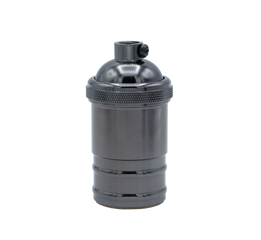 Metal Lamp Holder 'Novak' dark grey E27