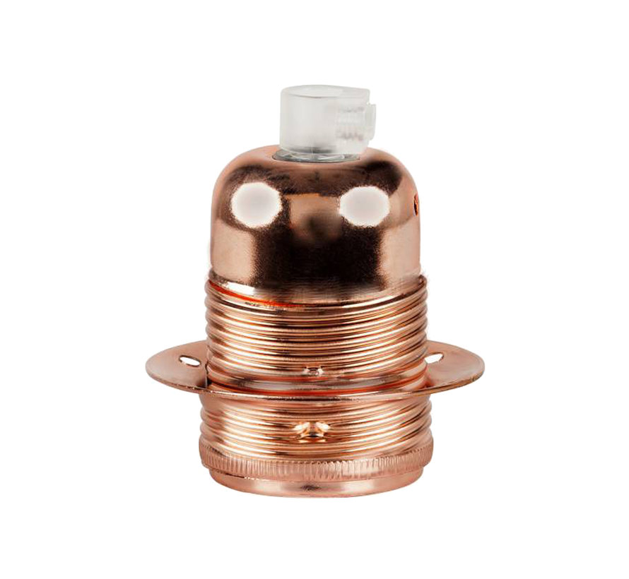Fassung 'Olan' mit Außengewinde Metall Kupfer - E27